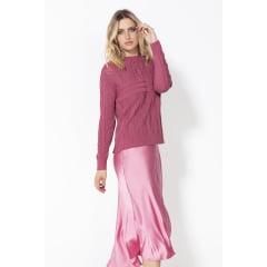 Blusa de tricot haran rendada
