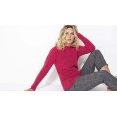 Blusa de tricot mousse trança