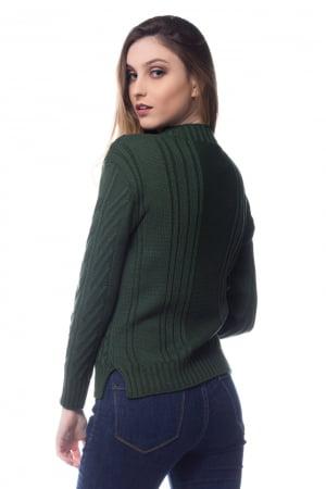 Blusa de tricot power trança haran