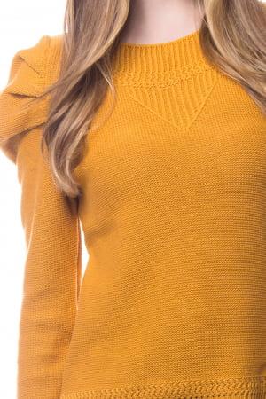 Blusa de Tricot Lisa Manga Puff